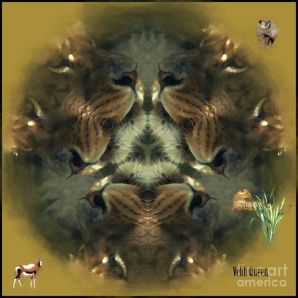 Digital Art - Veldt Queen Kaleidoscope by Kathryn Strick
