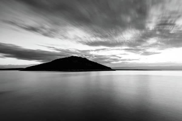 Losinj Photograph - Veli Osir Island In Black And White, Losinj Island, Croatia. by Ian Middleton