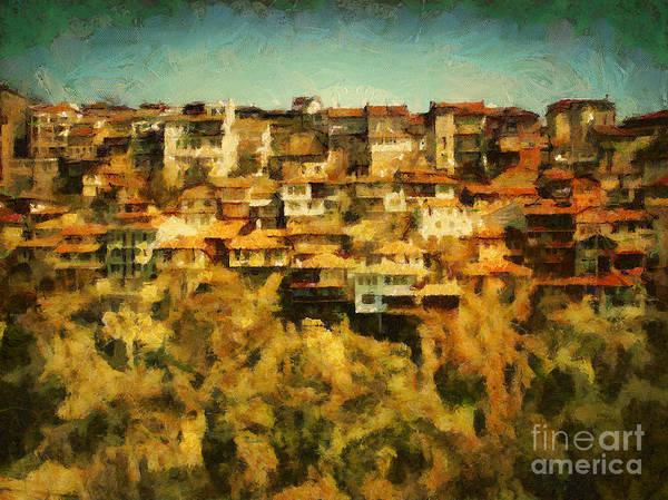 Painting - Veliko Tarnovo Cityscape Painting by Dimitar Hristov