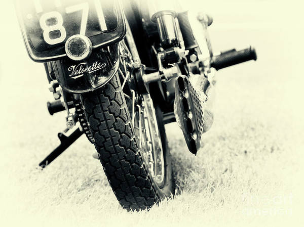 Exhaust Wall Art - Photograph - Velocette Abstract by Tim Gainey