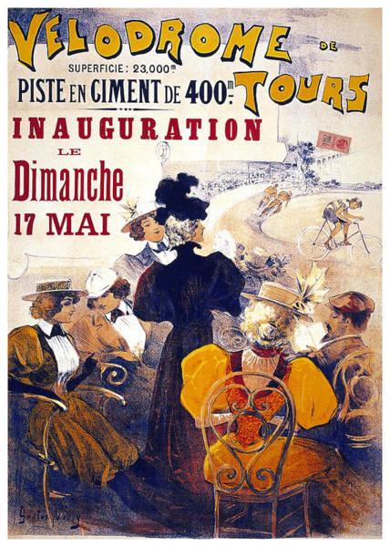 Wall Art - Mixed Media - Velodrome De Tours - Bicycle Tournament - Vintage Advertising Poster by Studio Grafiikka