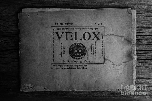 Wall Art - Photograph - Velox Developing Paper Antique Paper by Edward Fielding