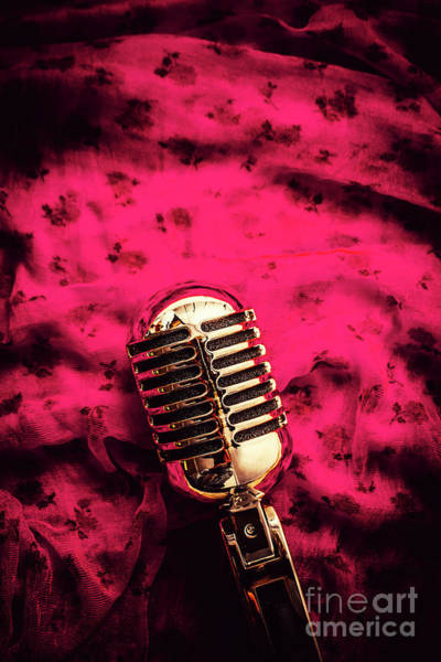 Microphone Photograph - Velvet Jazz Show by Jorgo Photography - Wall Art Gallery