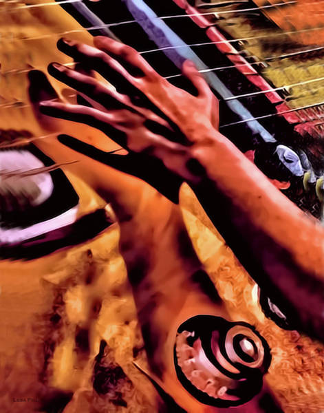 Mixed Media - Velvet Strum Electric by Lesa Fine