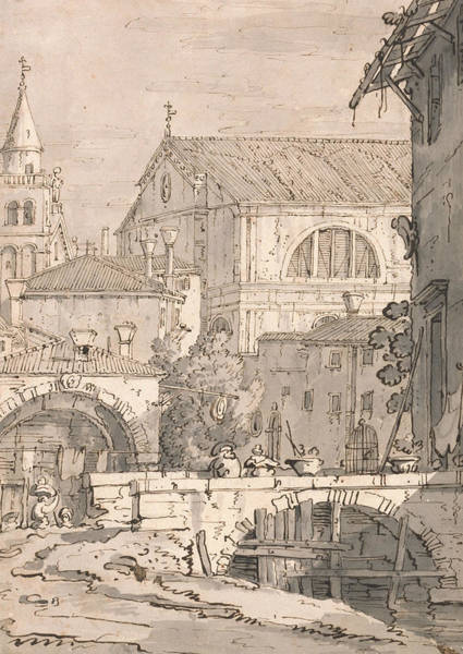 Drawing - Venetian Fantasy  by Canaletto