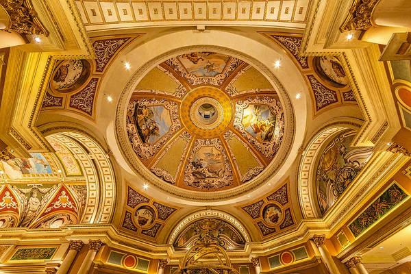 Photograph - Venetian Hotel Lobby Ceiling by Susan Candelario