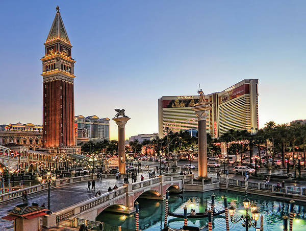 Photograph - Venetian Hotel Plaza, Las Vegas by Tatiana Travelways