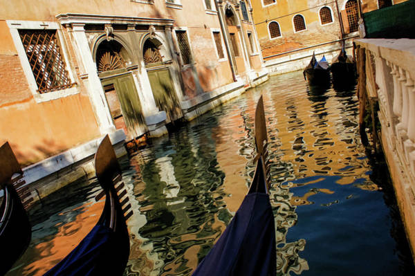 Photograph - Venetian Impressions - Gondolas And Reflections by Georgia Mizuleva