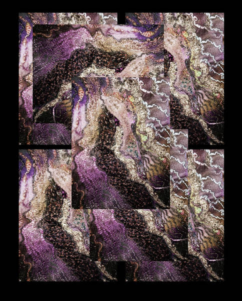 Photograph - Venetian Lace Polyptych by Marina Schkolnik