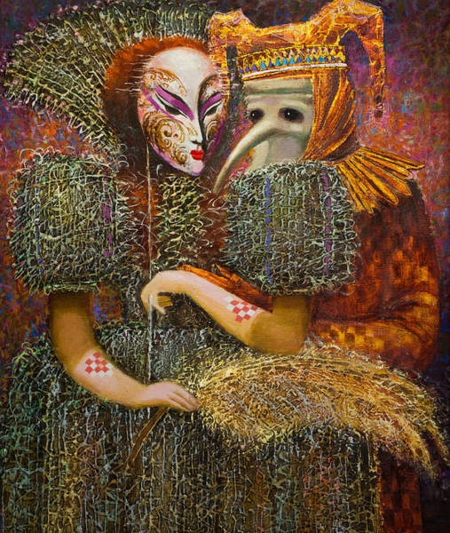 Painting - Venetian Masks by Valentina Kondrashova