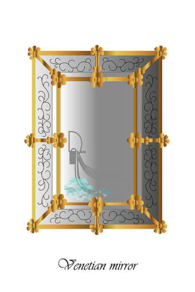 Digital Art - Venetian Mirror by Marina Usmanskaya