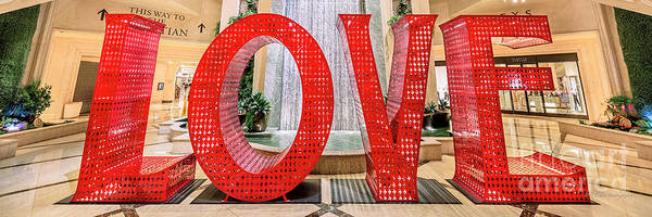 Chinese New Year Photograph - Venetian Palazzo Love Sculpture 3 To 1 Ratio by Aloha Art