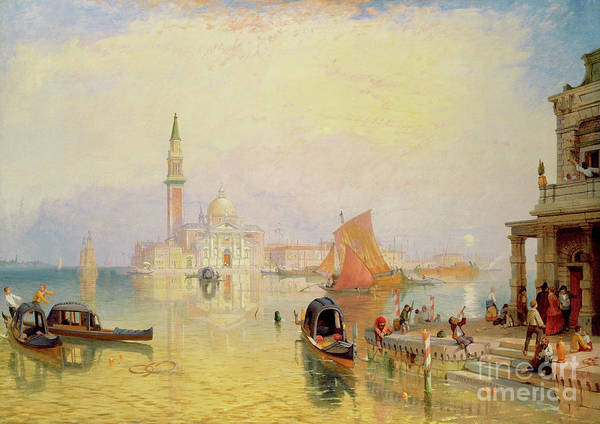 Wall Art - Painting - Venetian Scene, 19th Century by James Baker Pyne