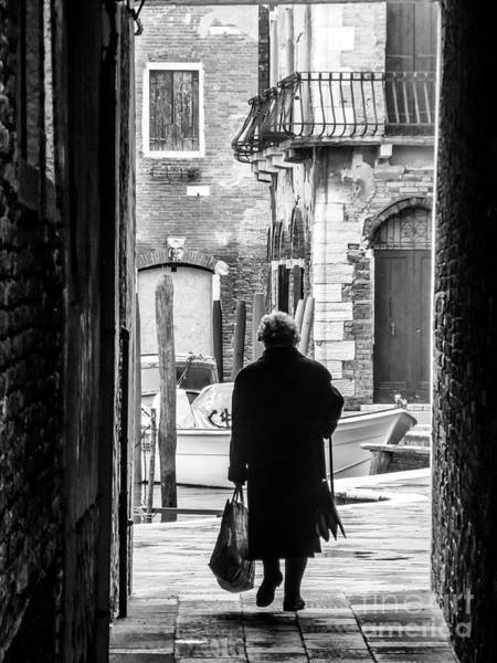 Photograph - Venetian Silhoutte Lady by Paul Warburton
