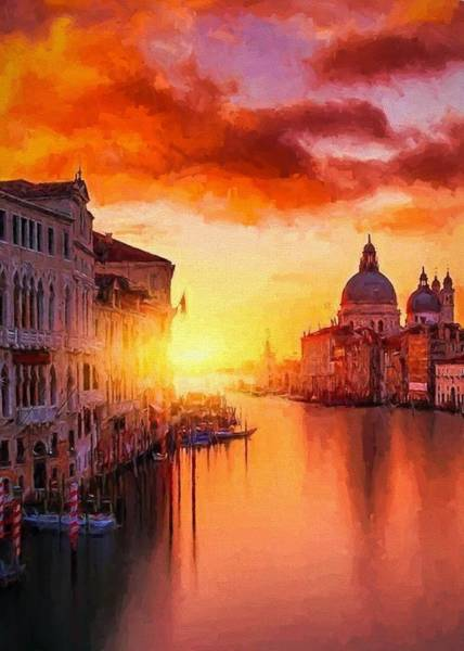 Digital Art - Venetian Sunset by Charmaine Zoe