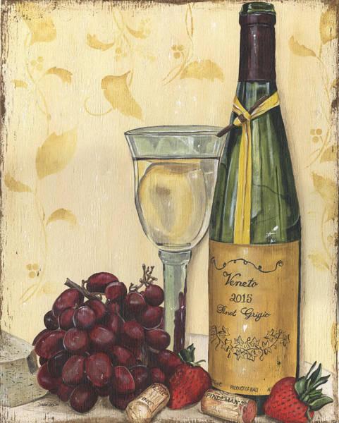 White Wine Wall Art - Painting - Veneto Pinot Grigio by Debbie DeWitt