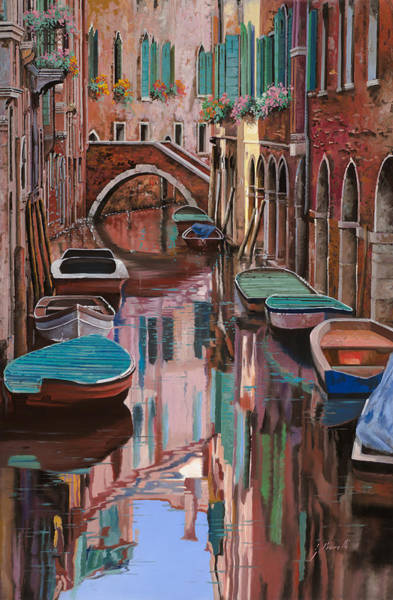 Venice Wall Art - Painting - Venezia A Colori by Guido Borelli