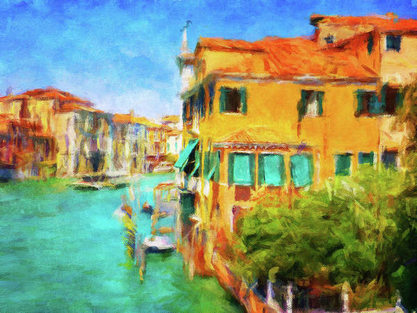 Sienna Photograph - Venezia Afternoon by Connie Handscomb