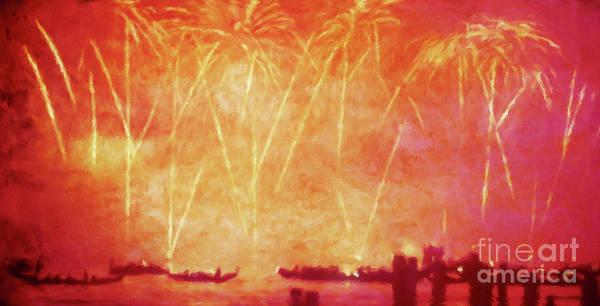 Wall Art - Photograph - Venezia Fireworks Venice Italy by Jerome Stumphauzer