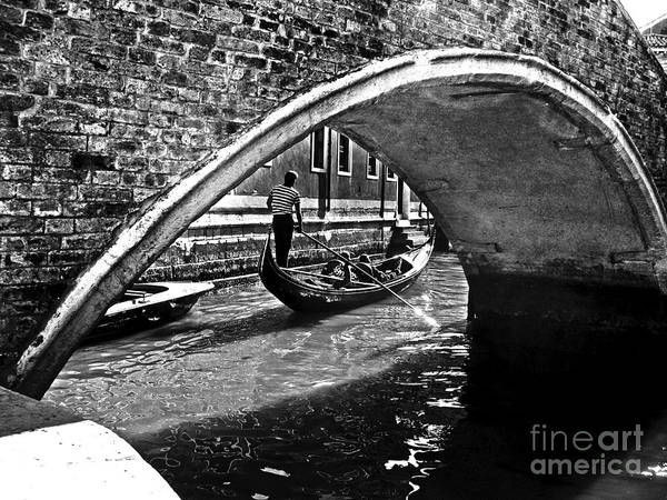 Photograph - Venezia - Gondola And Bridge by Carlos Alkmin