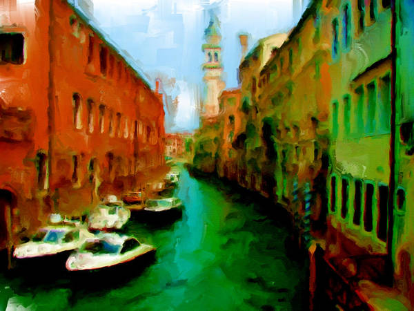 Apostolic Palace Wall Art - Painting - Venice 1a by Brian Reaves