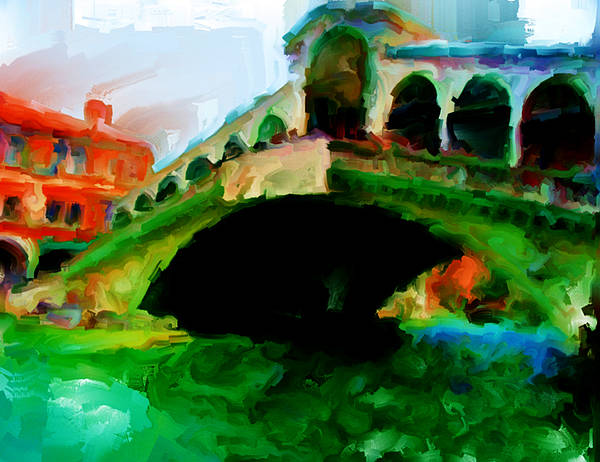 Apostolic Palace Wall Art - Painting - Venice 2a by Brian Reaves