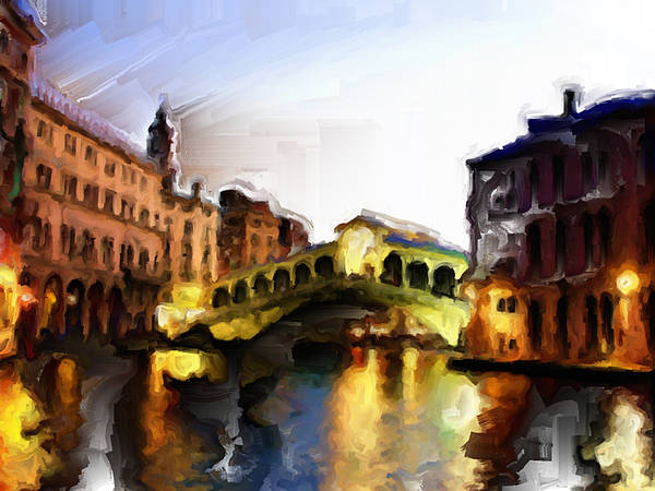 Apostolic Palace Wall Art - Painting - Venice 3a by Brian Reaves