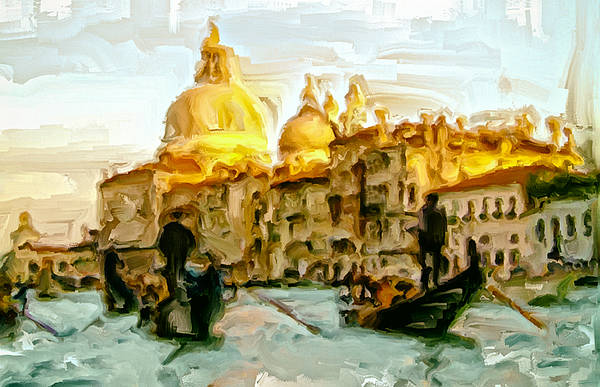 Apostolic Palace Wall Art - Painting - Venice 4a by Brian Reaves