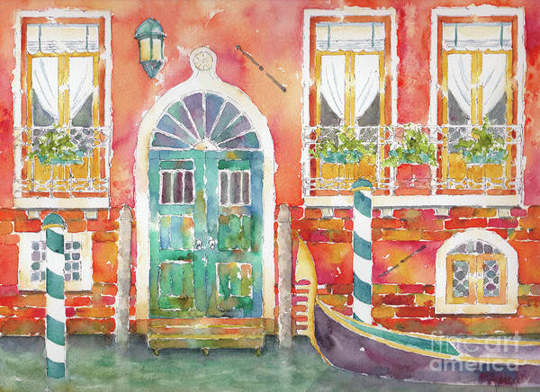 Painting - Venice Along The Canal by Pat Katz