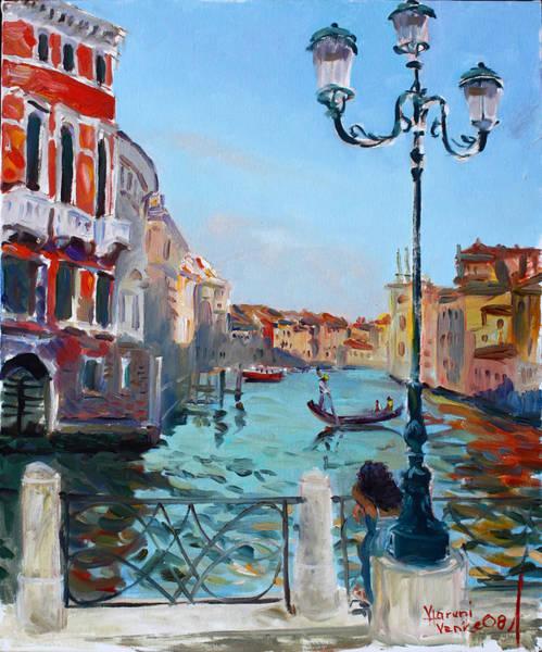 Wall Art - Painting - Venice  Aspetando by Ylli Haruni
