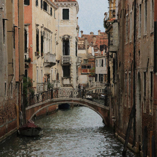 Digital Art - Venice Backwater by Julian Perry