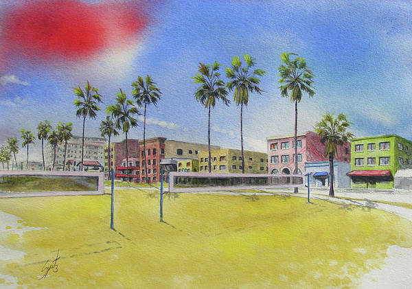 Volley Painting - Venice Beach 03 by Mark Spitz