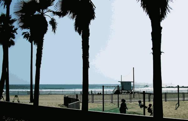 Lifeguard Digital Art - Venice Beach California by Phill Petrovic
