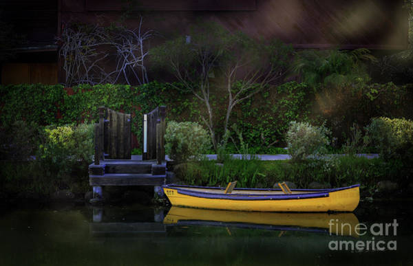 Photograph - Venice Beach Canal Yellow Boat by Craig J Satterlee