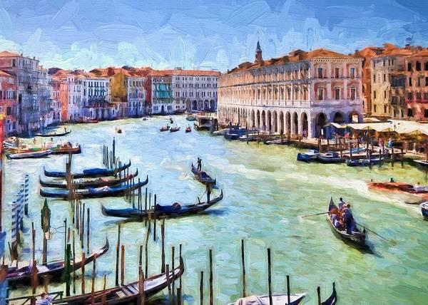 Digital Art - Venice Canal  by Charmaine Zoe