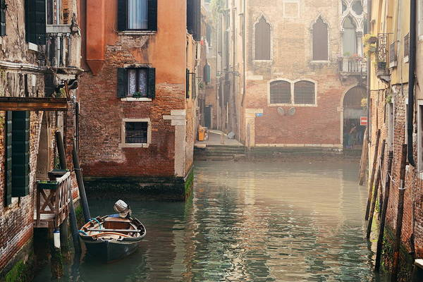 Photograph - Venice Canal Morning by Songquan Deng