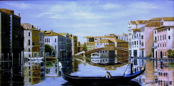 Venice Canal Ride Art Print by Jim Horton