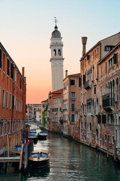 Photograph - Venice Canal San Giorgio Dei Greci by Songquan Deng