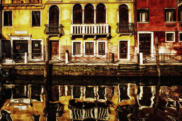 Photograph - Venice Canal View by Miles Whittingham