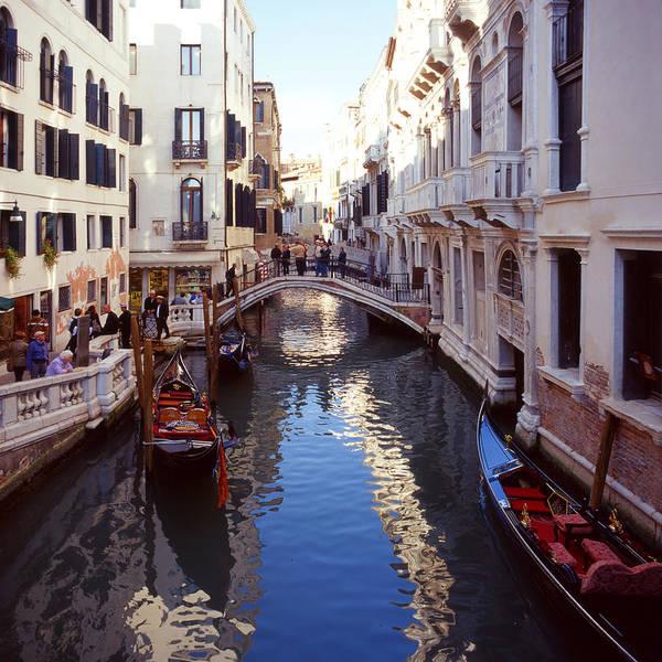 Photograph - Venice Canal With Gondolas by Paul Cowan