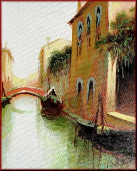 Nature Knows Best Wall Art - Painting - Venice Canale by Schiller