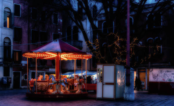 Photograph - Venice Carousel At Night by Georgia Fowler