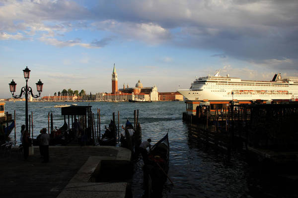 Photograph - Venice Cruise Ship by Andrew Fare