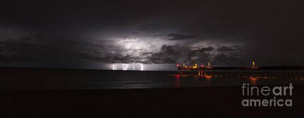 Lightning Bolt Photograph - Venice Fishing Pier by Quinn Sedam