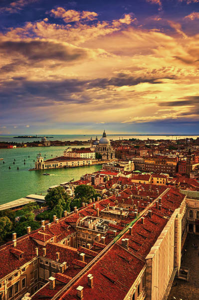 Photograph - From The Bell Tower In Venice, Italy by Fine Art Photography Prints By Eduardo Accorinti