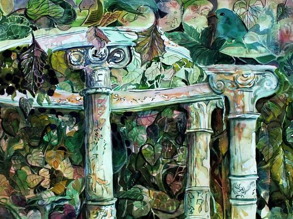 Wall Art - Painting - Venice Garden by Mindy Newman