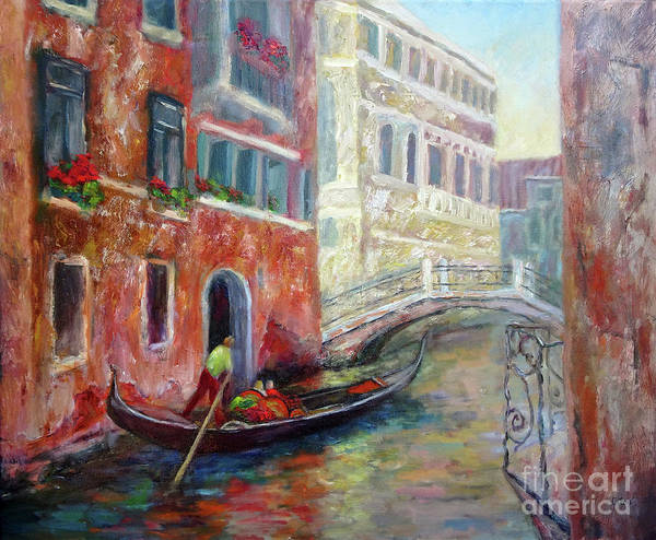 Painting - Venice Gondola Ride by Carolyn Jarvis