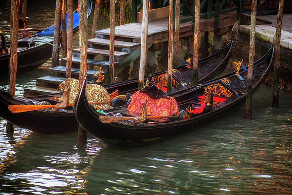 Wall Art - Photograph - Venice Gondolas by Andrew Soundarajan