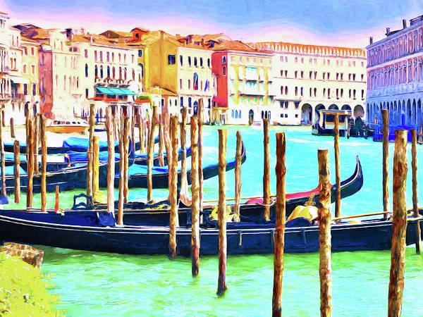 Painting - Venice Gondolas by Dominic Piperata