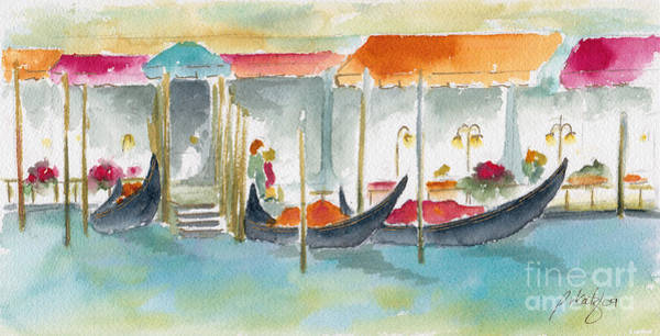 Painting - Venice Gondolas by Pat Katz
